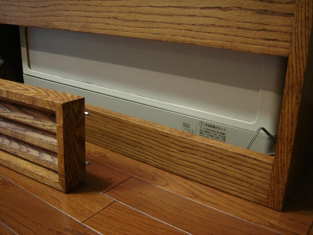 床置きエアコンを隠すカバー