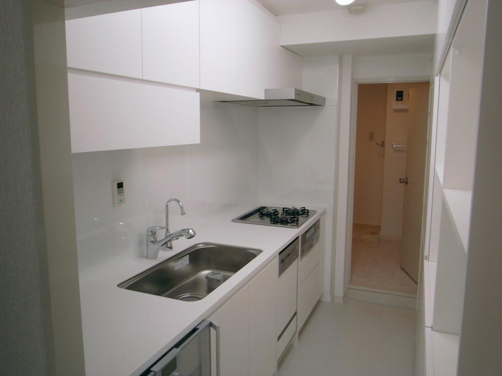 ガゲナウの電気オーブンのある真っ白なキッチン