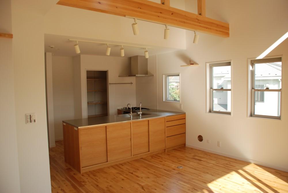 料理教室のためのL型キッチン