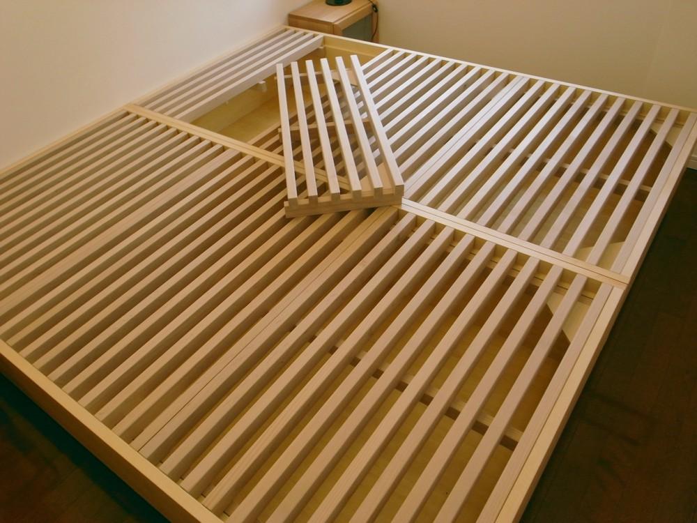 ブナで作るベッドフレーム