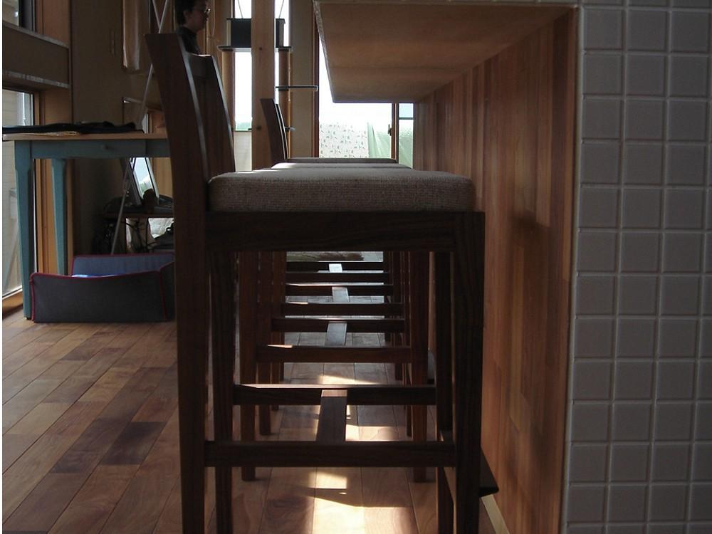 カバーを洗うことができるキッチンハイチェア