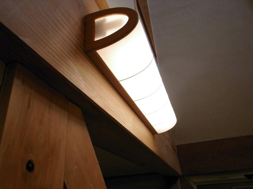 和紙を張った照明カバー