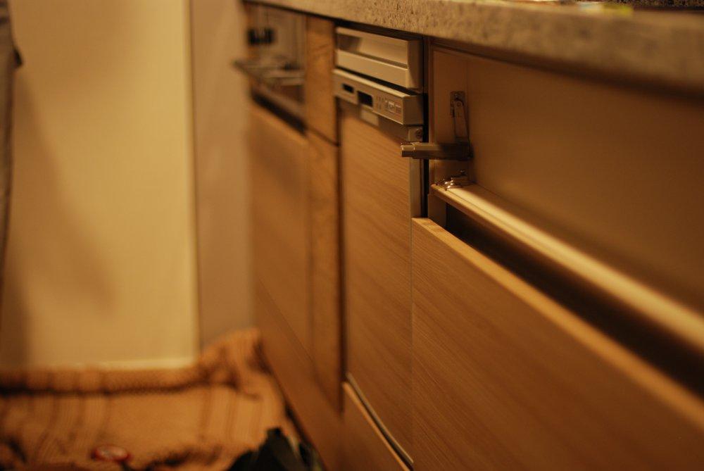 節有オークの食器棚