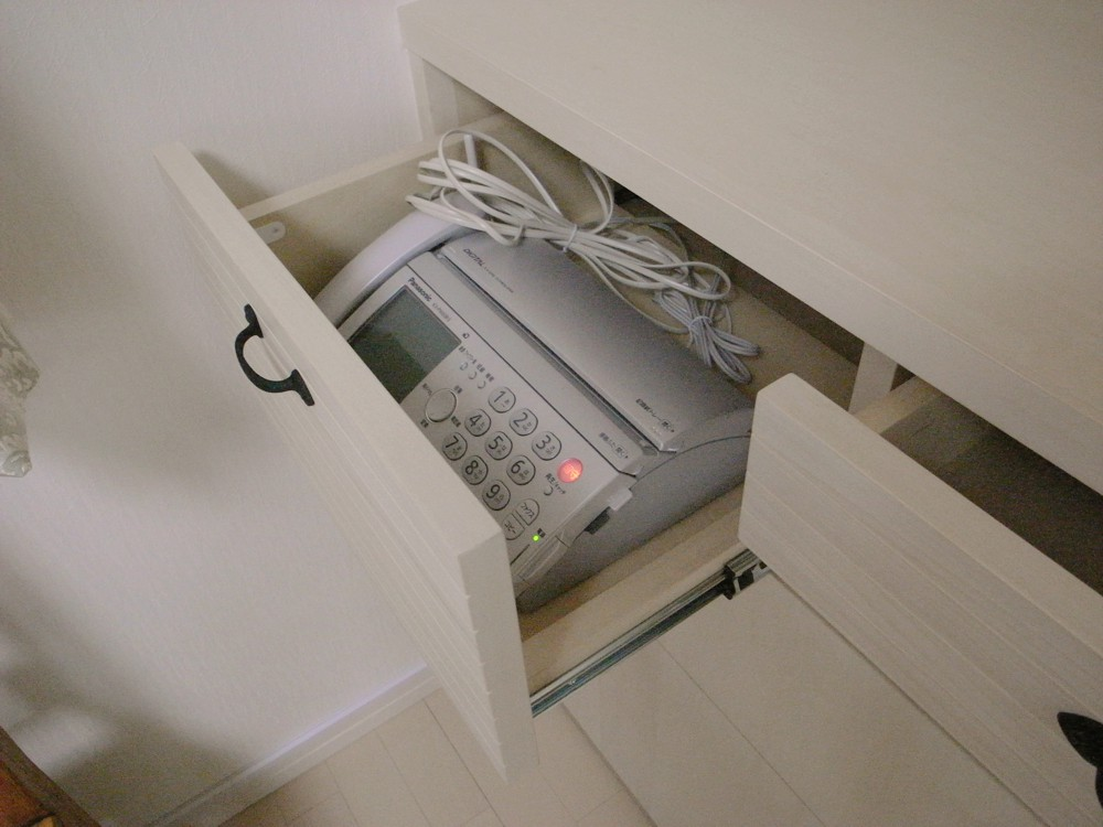 電話収納部