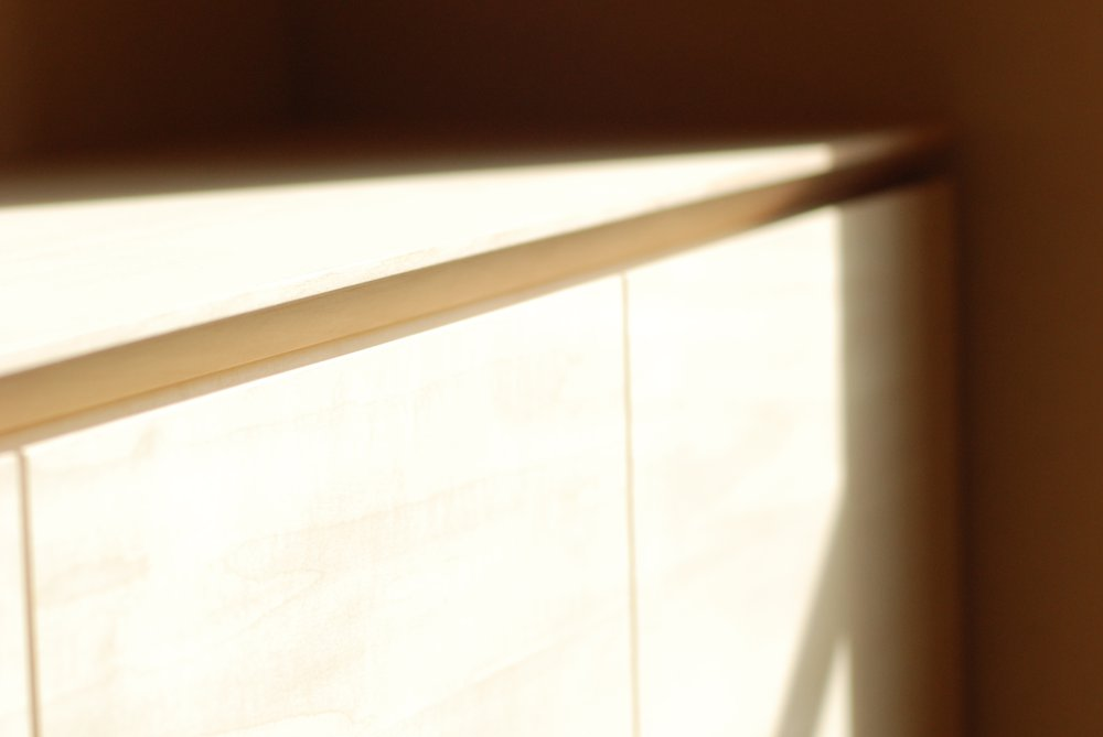 和室に作るシナのローボード