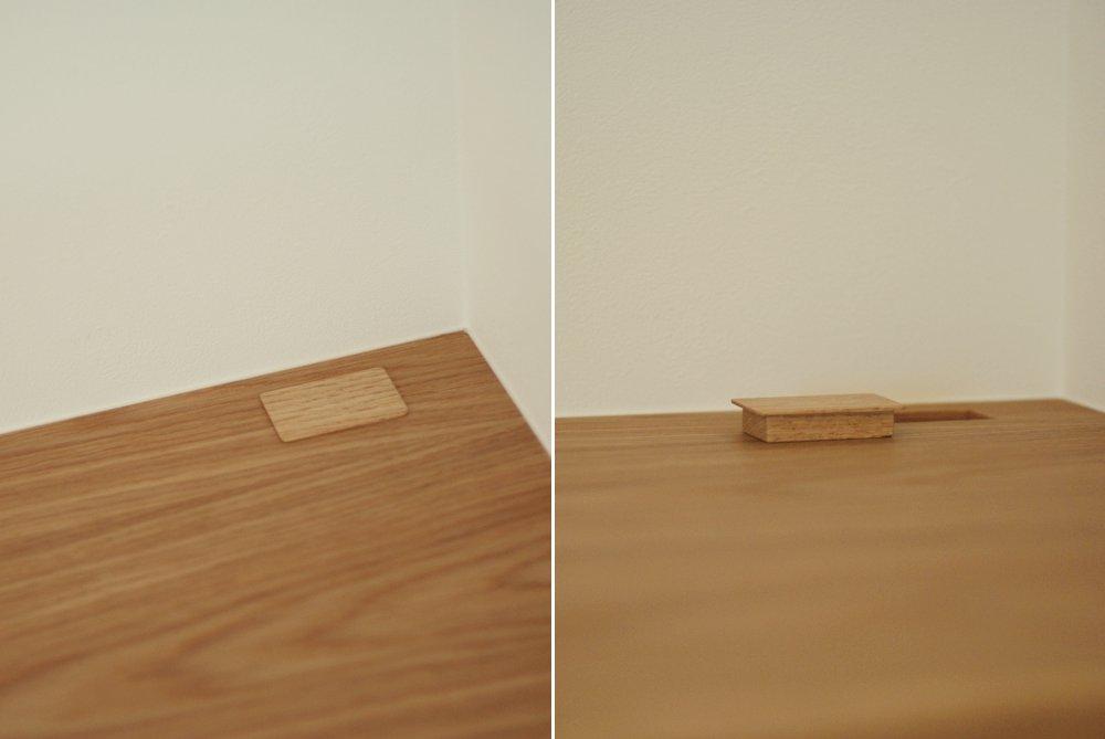 象嵌の引き出しのあるリビングボード