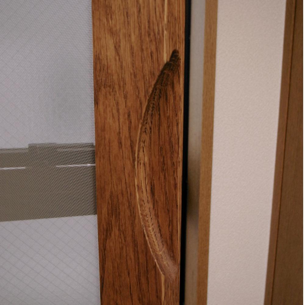 オークの木製網戸