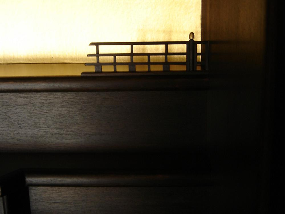 ウォールナットの仏壇