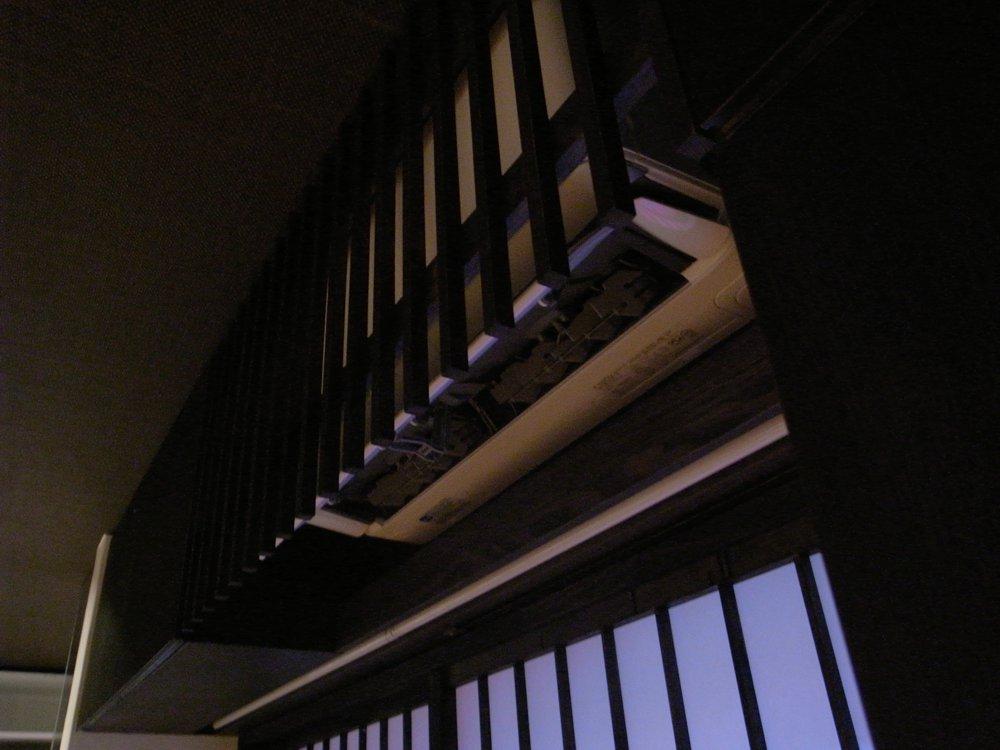 タモを使った純和風テイストのリビング収納