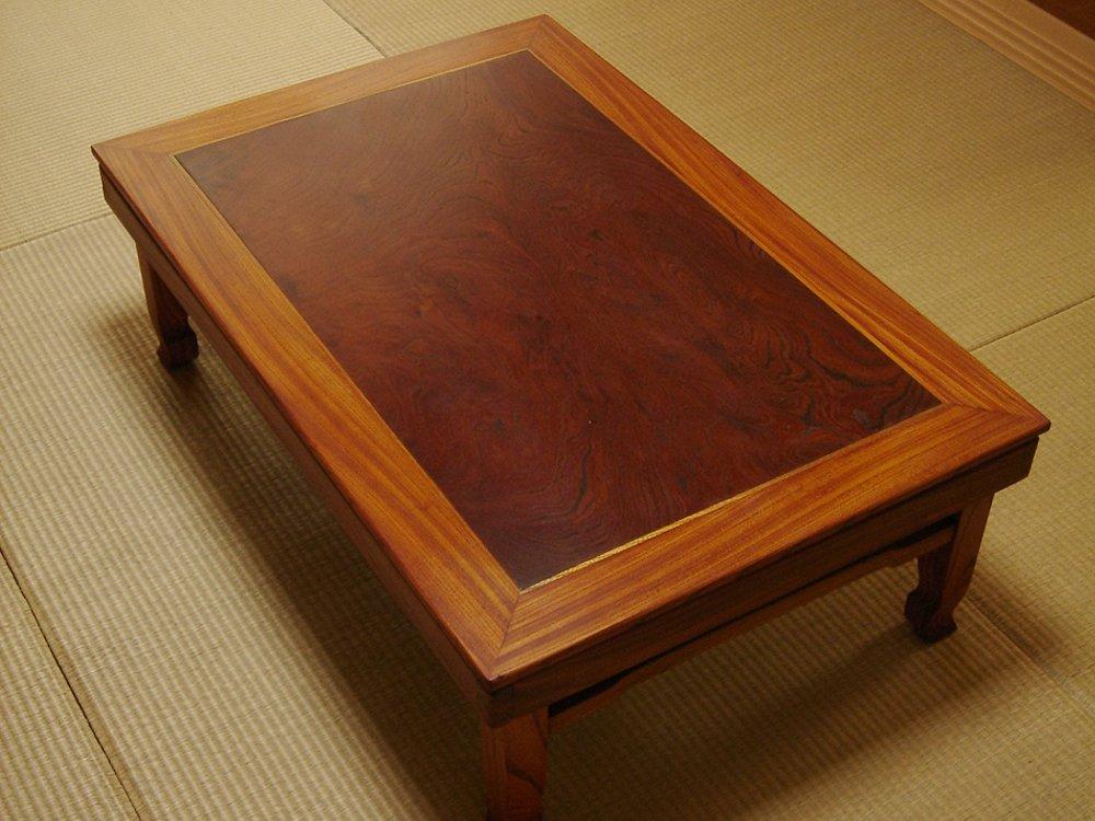 けやきの座卓の塗り替え