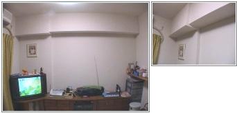 タモの白い壁面収納