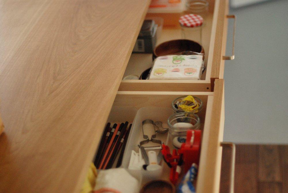 オークのキッチン背面収納