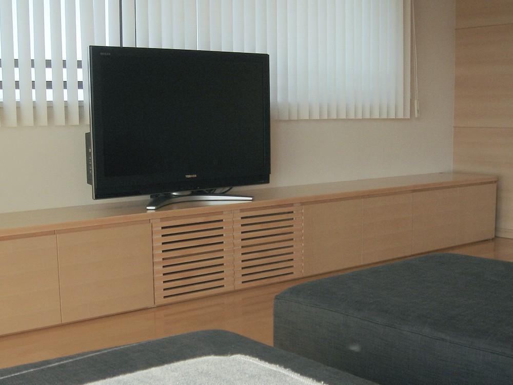 メープルのローテレビボード