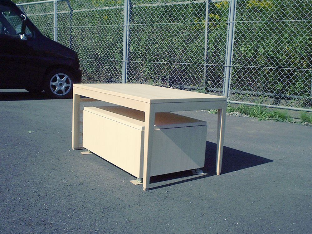 特注家具をリメイクして3つの新しい家具を作りました。