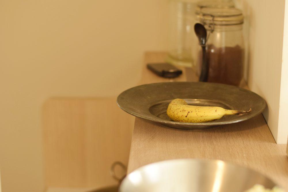 ナラ柾目ホワイトオイル仕上げのキッチン
