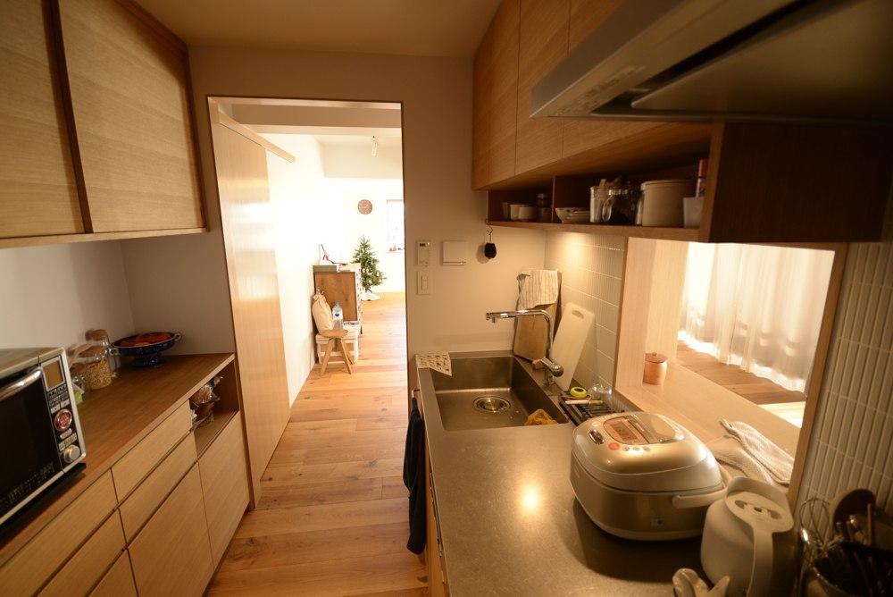 ナラ柾目のキッチン