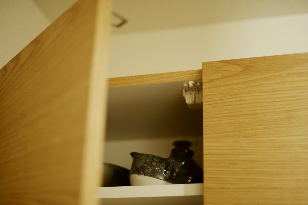 吊戸棚の耐震ラッチ